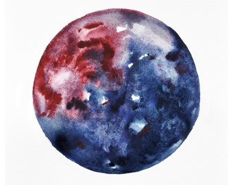 Gusher Moon Print, 11x14