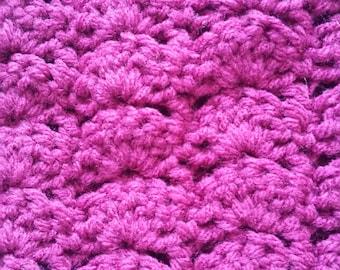 Magenta Crochet Scarf