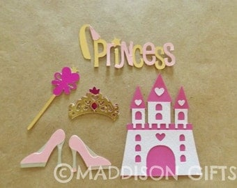 Princess Fairytale Card Making Toppers Kids Crafts Scrapbooking Embellishments Paper Craft Supplies