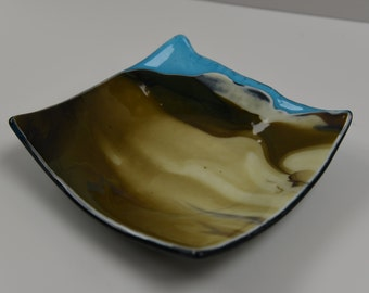 Opal Fused Glass Bowl