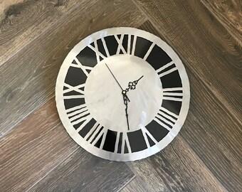 Roman Numeral Wall Clock, Wall Clock, Metal Wall Clock, Roman Numeral Clock