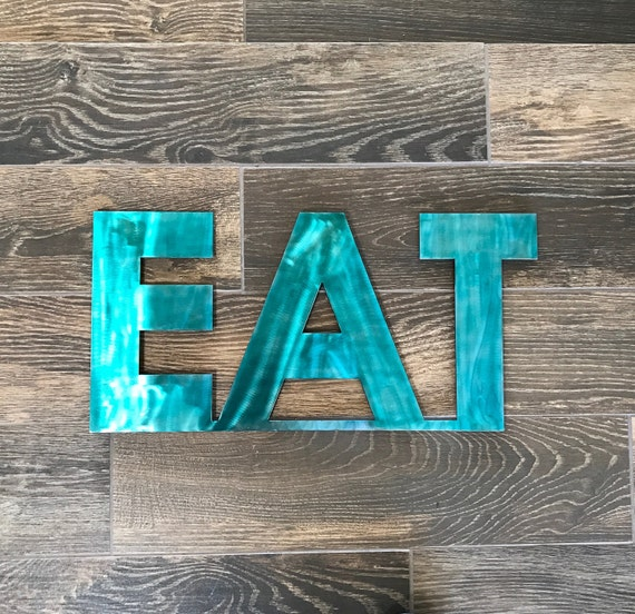 Metal eat sign kitchen decor metal letters eat kitchen for Kitchen letters decoration