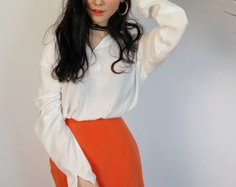 ORANGE WRAP SKIRT