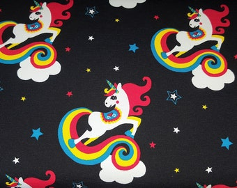 Cotton Jersey cloud horse with Unicorn