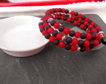 """Fancy """"Black and red"""" bracelet"""