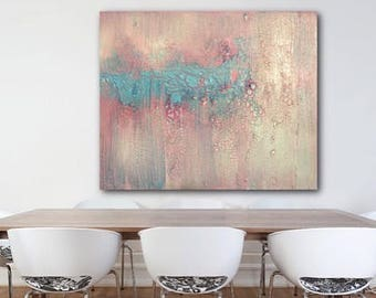 Pink Abstract painting, mid century modern, wall art, modern, home decor