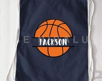 Basketball Drawstring Bag | Personalized Basketball bag | Basketball Backpack | Basketball Coach gift Ideas | Basketball Camp Bag