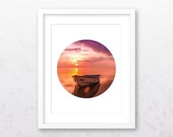 Sunset Print | Sunset Photography | Sunset Art | Sunset Wall Art | Sunset Photo | Beach Print | Lake Print | Digital Download