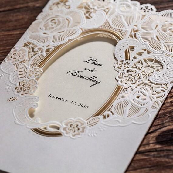 12 Victorian Wedding Invitations/Blank Vintage Wedding