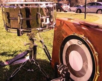 "Casebass© suitcase bassdrum by RBT Custom Drums - large vintage leather ""thumper"" model"