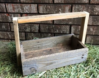 Reclaimed Wooden Caddy, Wooden Tray, Wooden Basket