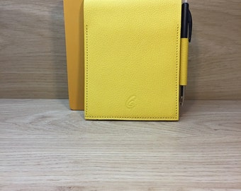 Yellow goat leather notebook