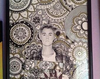 Justin Bieber Zentangle