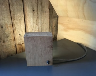 Oak lamp with dimmer