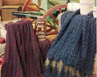 Harvest of Homespun Afghans Crochet Blanket --Annie's Attich -871518