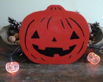 Fall/Halloween Pumpkin Wood Cutout Large