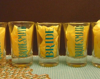 bridesmaid shot glasses, bridesmaid shot glass, bridesmaid gifts, wedding gifts, maid of honor gift, wedding favor, shot glass