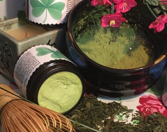 Matcha Green Tea.Re-Storation Skin. Treatment Facial Cream