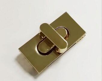 1pcs 36*17MM gold Purse lock gold twist purse turn lock clutch clock Turn Lock Fastner,Purse bag handbag Latch hardware