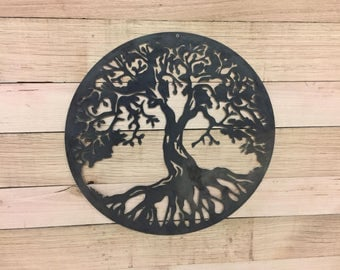 Metal Tree of Life Steel Wall Garden Art Sign