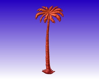 Palm Tree Vector Relief Model for cnc router projects or sign patterns in stl file format