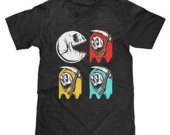 Pac Man Skull Shirt (Licensed) Available in Adult & Youth Sizes