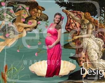 Venus Pregnancy Photography Digital Props Backdrop Renaissance Digital Composite for Pregnancy Backdrop Téléchargement Numérique Grossesse