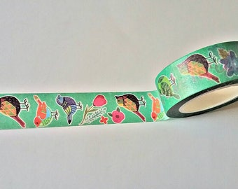 Birds Japanese Washi Tape. Scrapbook and Stationery Tape. Pretty Tape.