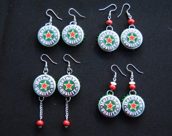 Heineken Bottlecap Earrings