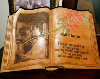 Personalized Maple Book Keepsake