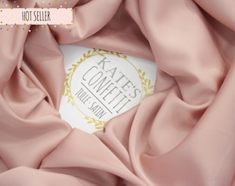 200 Blush Silk Fabric, Wedding Evening Dress Silk Fabric, Soft Silk Luxury Lining Fabric, Lining Material, Wholesale Silk Fabric -1.50m wide