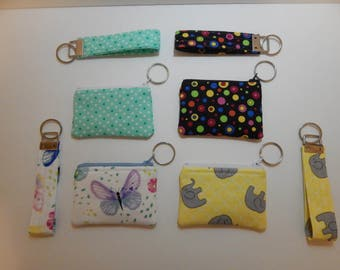 MINI - Coin Purse With Key Fob Option