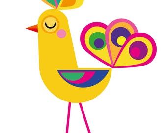 Bird, print art, kids art, kids wall art, nursery decor, Kidsroom Kunst.Minimalistischen pressure, minimal print