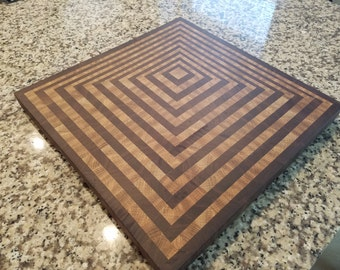 Pyramid/Bowl 3D Cutting Board made from Oak and Walnut