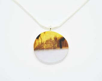 Unique pendant, Resin jewellery, homemade pendant, Wood jewellery, Wood pendant, gift for her, Wood resin pendant, Handcraft Jewellery