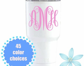 Monogram Decal, Yeti Decal, Monogrammed Tumbler Decal, Personalized Monogram Decal, Cup Decal, Phone Monogram, Yeti Decal, Decal For Women