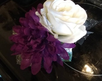 Corsage and matching Boutineer- Your choice of color