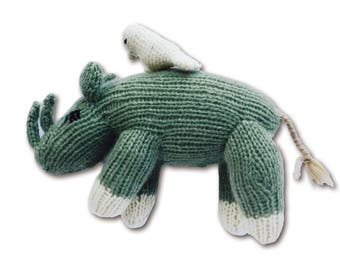 Cashmere Rhino for Babies + Little Ones-Handmade Baby Gift. Made at a Women's Center, Nepal-Proceeds support education for Nepali children.