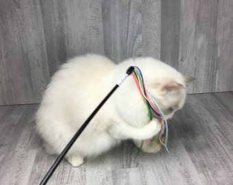 Cat toy, Satin strand cat teaser toy