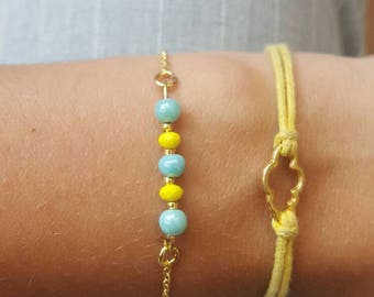 Bracelet chain and beads summer