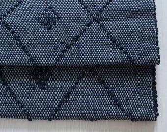 Small Woven Rag Rug,  Handwoven Carpet, Handwoven Rug, blue, Throw Rug, Boho Rug, Portuguese Cotton Rug, childroom decor.