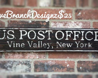 US Post Office vintage farmhouse rustic decoration wall sign