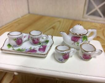 Dollhouse Miniature Tea Set-6pcs