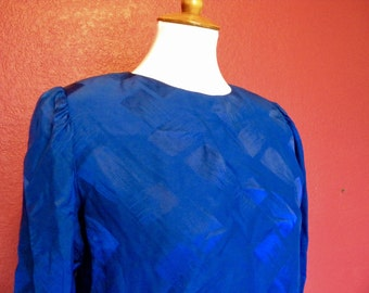 Vintage Silk Cobalt Dress