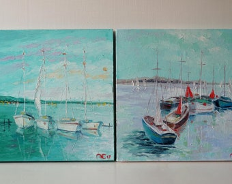 Special Offer Set of two paintings at a special price The Italian duo Home decoration Oil Painting Canvas Art Original Painting Wall Art