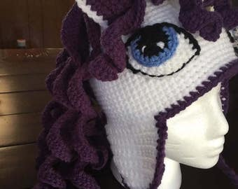 Crochet Rarity My little Pony hat