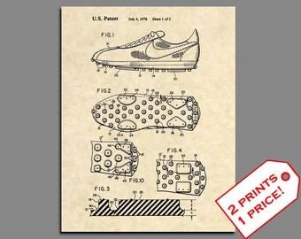 Sneakers Shoe Art - Nike Sneaker Patent Prints - Vintage Tennis Shoe Sneaker Art Print - Sneaker Art Print Patent Poster - Sneakers Art 356