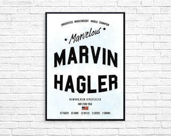 Marvelous Marvin Hagler Boxing Legend Print Picture Art Poster Style Print Four Kings
