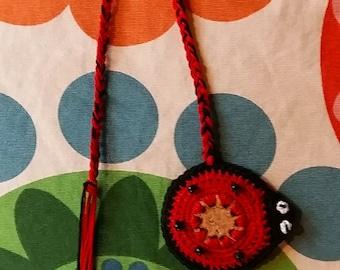Bookmark crochet Ladybug