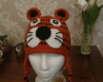 Crochet tiger hat age 1-3years